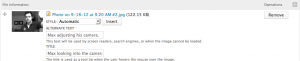 An image field being configured in Drupal 7.
