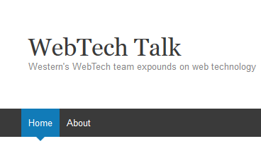 A screen capture of the WWU WebTech BLog