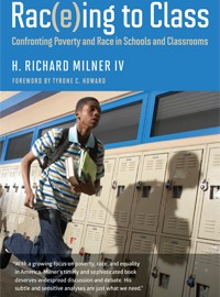 Book Cover: An African American holding books jogging in front of school lockers.